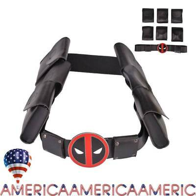 Deadpool X-Men Superhero Metal Belt Bag Costume Cosplay Props Accessories New US