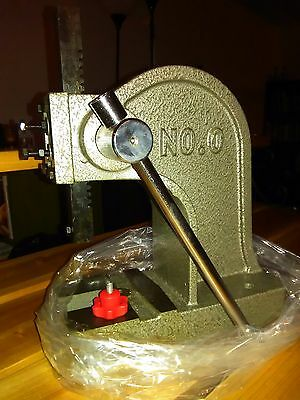 New Model Leather 1000 pound stamp press, plate and press pad Tandy 3-D craft