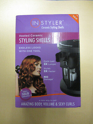 INSTYLER Heated Ceramic Hair Styling Shells NEW Waiver Curler