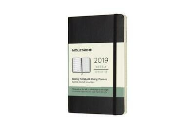 Moleskine 12 Monate Wochen Notizkalender 2019, Pocket/A6