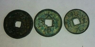 China Ancient Bronze Coins of 3