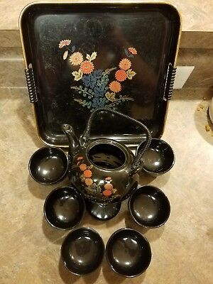 Vintage 7 Piece Japanese tea set with Tray!