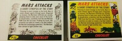 2017 Topps MARS ATTACKS Revenge 110-card set 55 base +55 pencil art + empty box