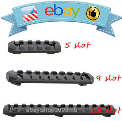 US M-LOK 5/9/13 Slots Picatinny/Weaver Rail Segment Handguard Section Aluminum