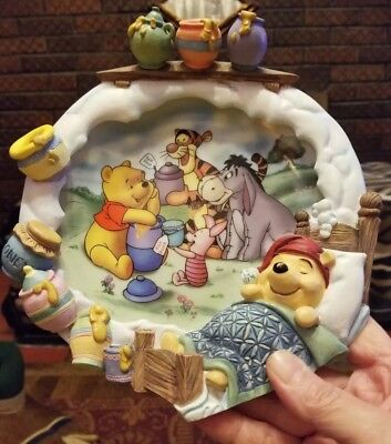 """7"""" Disney Poohs Sweet Dreams A Smackeral of Fun for Everyone 3D Plate See Descr."""