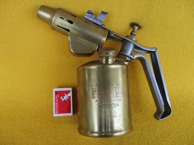 Vintage Antique Blow Torch Primus 632 Plumber Old Metal Ware Kero Man Cave Work