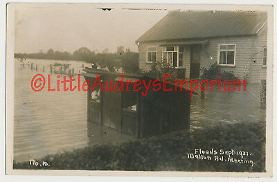 Yorkshire Pickering Malton Road 1931 Floods Real Photo Local Published  AO025