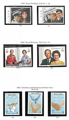 Collection Of Isle Of Man Mint Stamps (38)
