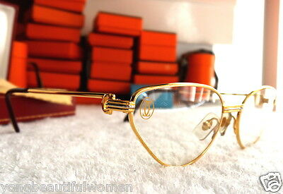 7ff253fd45c2 NEW Cartier Louis Beautiful  CATS EYE  18K Heavy Gold   Platinum Plated  Glasses