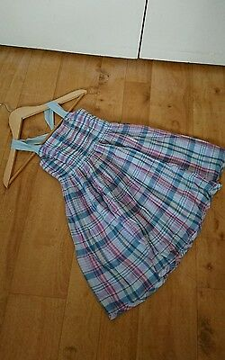 girls joules summer dress age 6 100% cotton fully lined check design