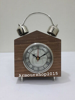 Vintage Style Table Top Desk Wooden Clock Collectible Watch Decorative