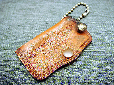 Vintage Leather Key Sleeve Chain Imperial Chrysler Plymouth Valiant Alton IL