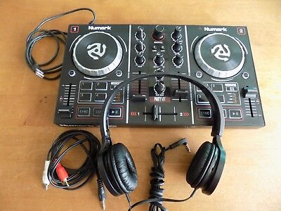 Numark Party Mix DJ Controller with Built-in Light Show and Panasonic headphones