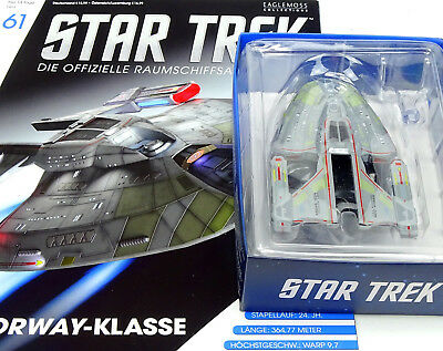 Star Trek Eaglemoss Starship Collection Uss Budapest Ncc-64923 Norway Class  #61