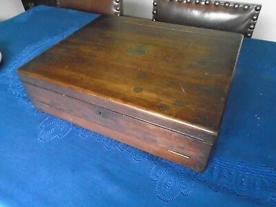Antique Oak Large Vintage Canteen Of Cutlery Box - Opens Out , Held Rfm Mosley