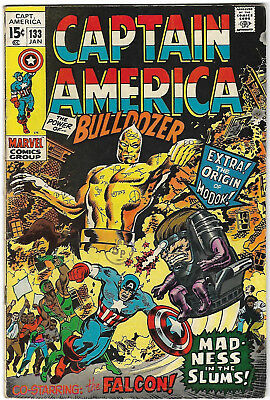 "1971. ""CAPTAIN AMERICA"". Vintage Marvel comic Vol.1 #133. Good+"