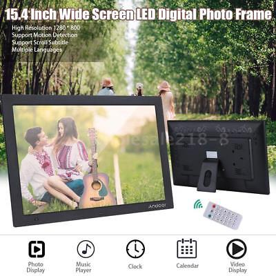 Newest 15.4'' HD Electronic Picture Album Digital Photo Frame Video Music Player
