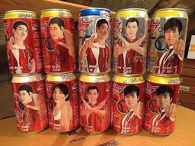CHINA Coca-Cola set with O.G. Beijing 2008  cans-boîtes-dozen-latas-blikken