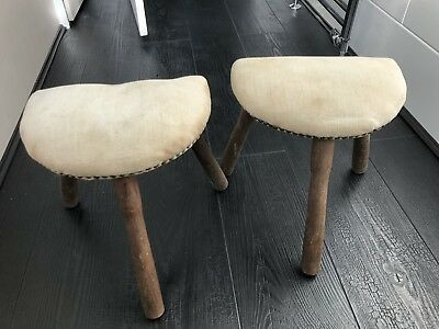 Pair Of Antique Milking Stools