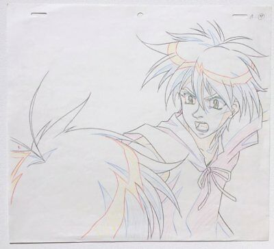 ESCAFLOWNE TV original 2 sketches of Van and Hitomi ep 26 Nobuteru Yuki