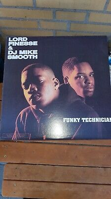 Lord Finesse & Dj Mike Smooth Funky Technician Vinyl Lp 1990 Top
