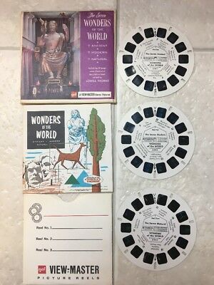 View-Master THE SEVEN WONDERS OF THE WORLD B901 3 Reels + Booklet