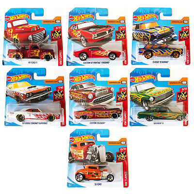 Hot Wheels 2018 Flames 1:64 Cars *CHOOSE YOUR FAVOURITE*