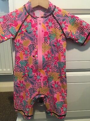 Baby Girls Tropical Print Swimming Costumn Age 6-9 Months