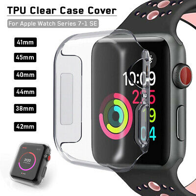38/42mm Soft TPU Clear iWatch Case Cover for Apple Watch Series 1/2/3/4 40/44mm