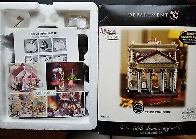 Department 56 Dickens' Village- Victoria Park Theater #58735 New Retired LTD ED