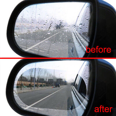Car Auto Anti Fog Rainproof Rearview Mirror Protective Film Accessory Oval 2Pcs