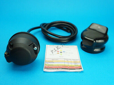 Pre-wired 7 Pin Socket with Socket Cover - Trailer Caravan Horse Box Motor Home