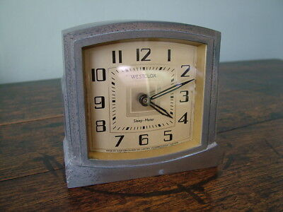 Original Art Deco Westclox Sleep-Meter Alarm Clock C1932 Peterborough Canada Af