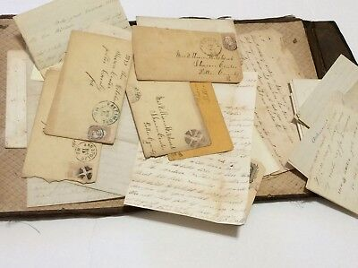 20+ Civil War letters: Union, 97th PA Vol. Inf Pvt Wm  Hitchcock Fort Fisher NC+