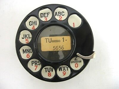 Western Electric 4H dial 1936 with 1936 celluloid dial plate telphone part