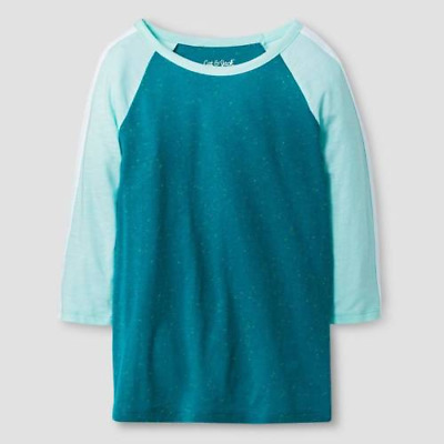 Cat & Jack Girls Size 7/8 Aqua Turquoise Top New With Tags