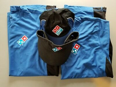 Dominos pizza (2) large shirts, and (2) hats, great for a Halloween costume