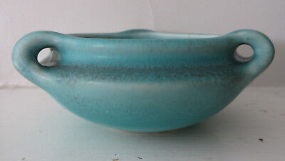 1926 Rookwood Art Potterythree Handled Bowl Speckled Blue Green Glaze
