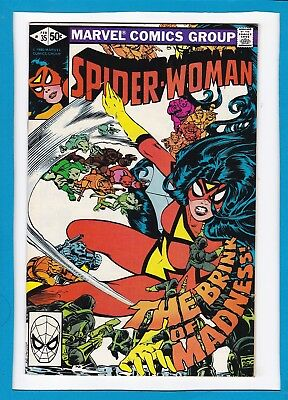 """Spider-Woman #35_February 1981_Very Fine+_""""the Brink Of Madness""""_Bronze Age!"""