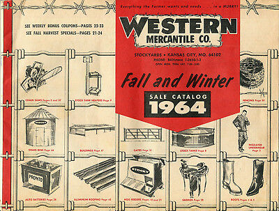 1964 Catalog Western Mercantile Farm Supply at the Kansas City Stockyards
