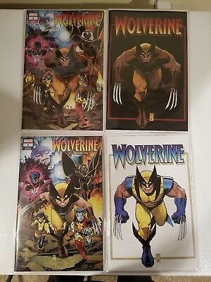 Return Of Wolverine #1 Arthur Adams Exclusive 4  Book Set Variant Covers A,b,c,d