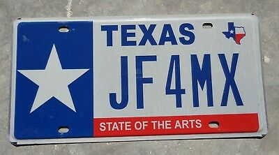 Texas State of the Arts license plate # JF 4 MX