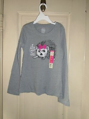 2- Girls Long Sleeve Shirts by Faded Glory Size Medium (7-8)  NEW WITH TAGS