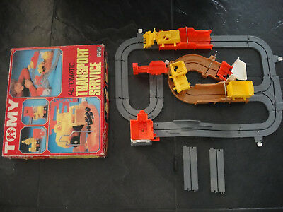 Tomy Baustelle vintage 70s Big Loader Construction Set in Action Transport Servi