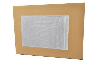 "Shipping Label Pouch 9.5"" x 7"" Large Packing List Clear Invoice Slip Envelope"