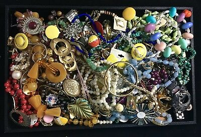 Large Lot of Vintage & Contemporary Costume Jewelry – Five+ Pounds Unsearched