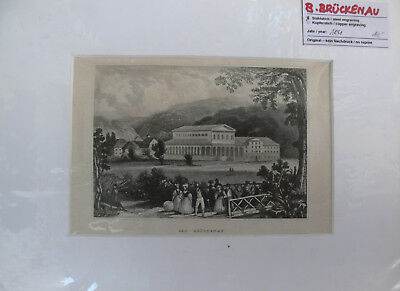 Stahlstich 1841 ORIGINAL Bad Brückenau Rhön Bad Kissingen Bayern
