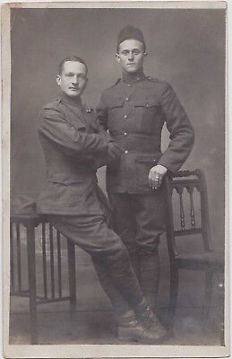 LOT OF 5 Vintage Real Photo Postcards: Affectionate Military Men: Gay Interest