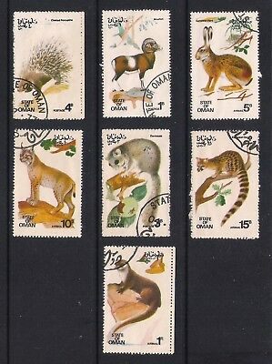 State of Oman used stamps - Wild Animals, Small mammals, used