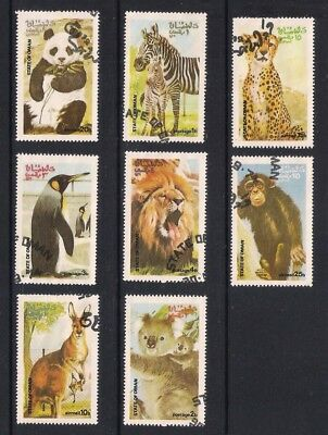 State of Oman used stamps - Wild Animals including kangeroo, pengiun, used